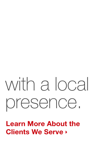 We connect businesses, retailers & manufacturers with a local presence.